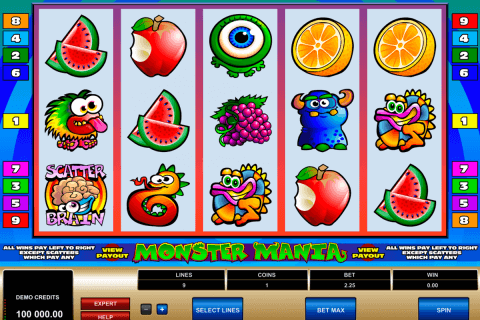 monster mania microgaming automat pa nett
