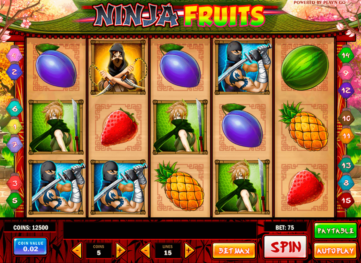 ninja fruits playn go automat pa nett