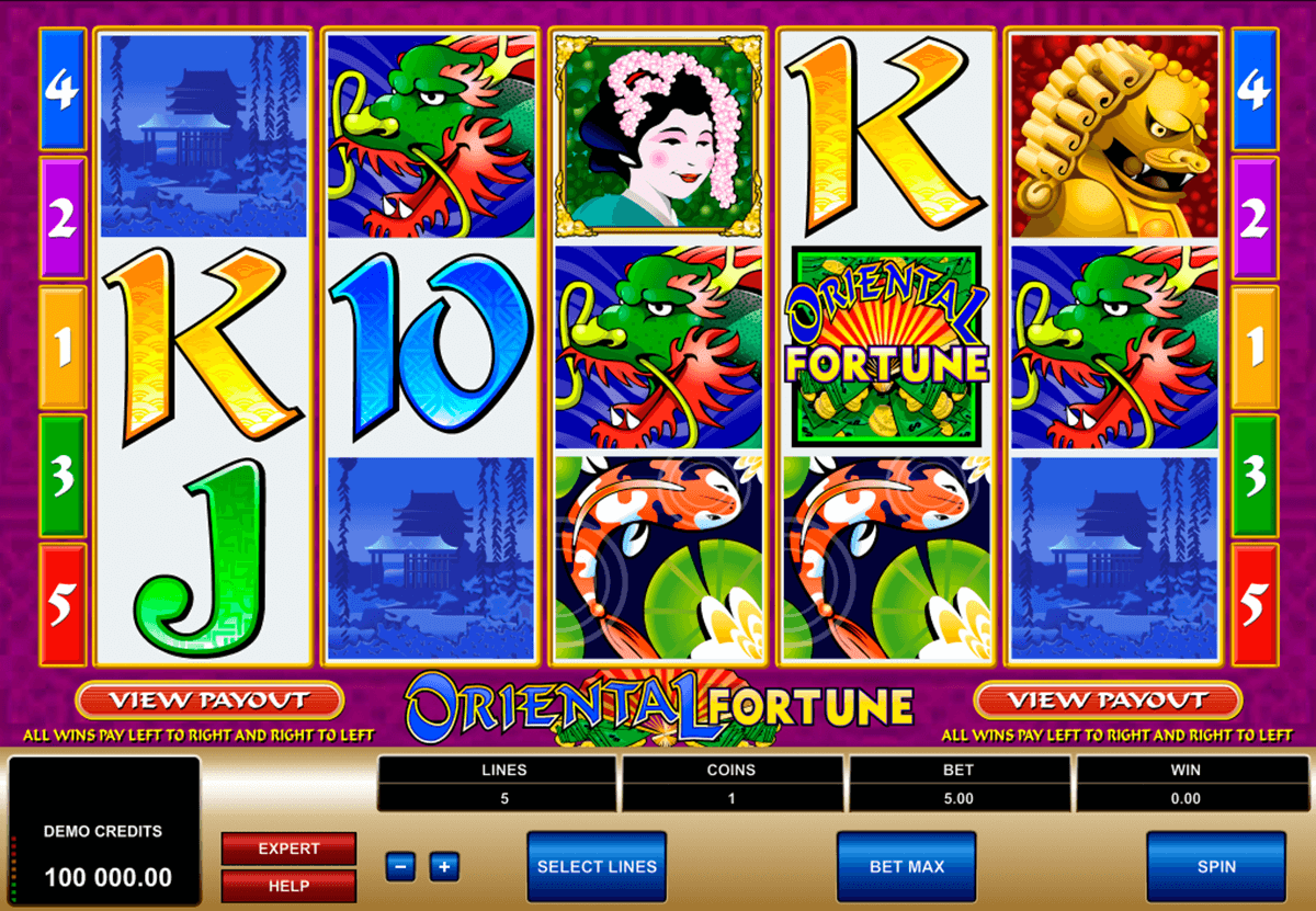 oriental fortune microgaming automat pa nett