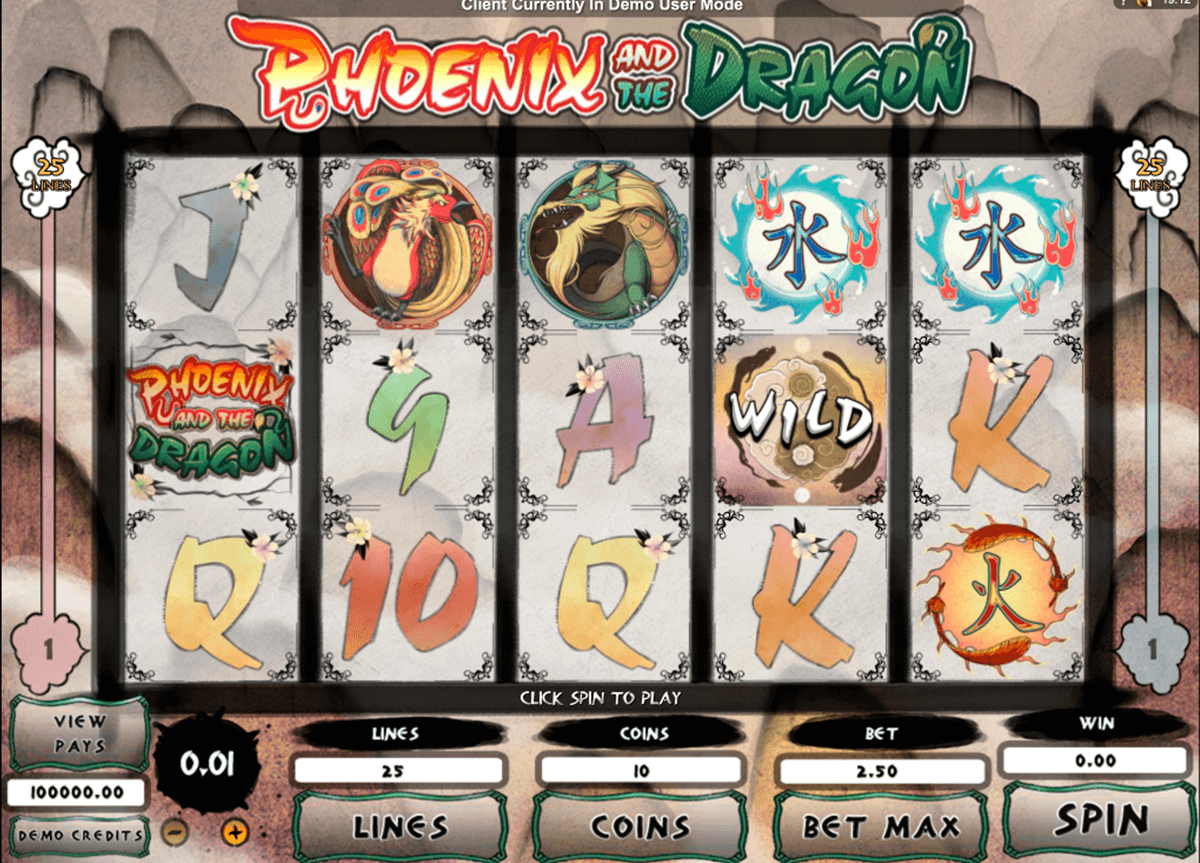 phoenix and the dragon microgaming automat pa nett
