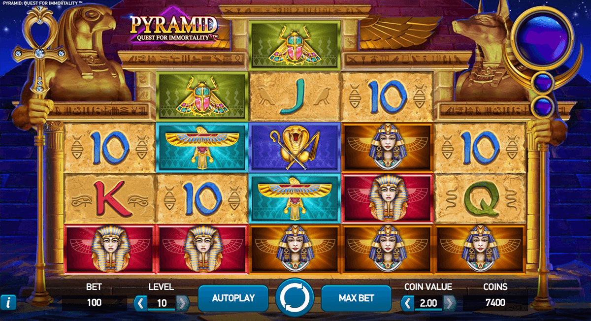 pyramid quest for immortality netent automat pa nett