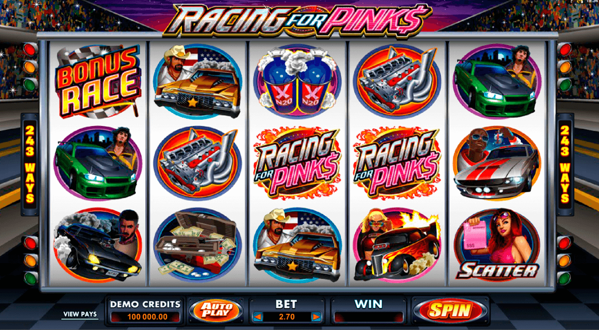 racing for pinks microgaming automat pa nett