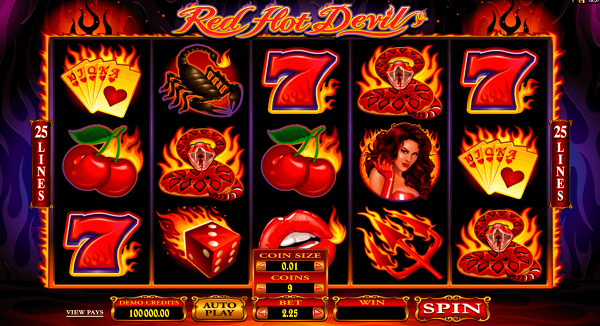 red hot devil microgaming automat pa nett
