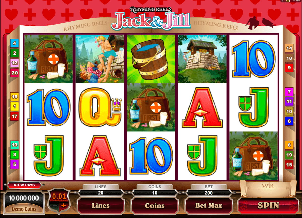 rhyming reels jack and jill microgaming automat pa nett