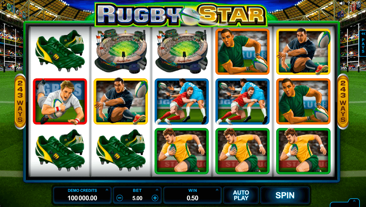rugby star microgaming automat pa nett