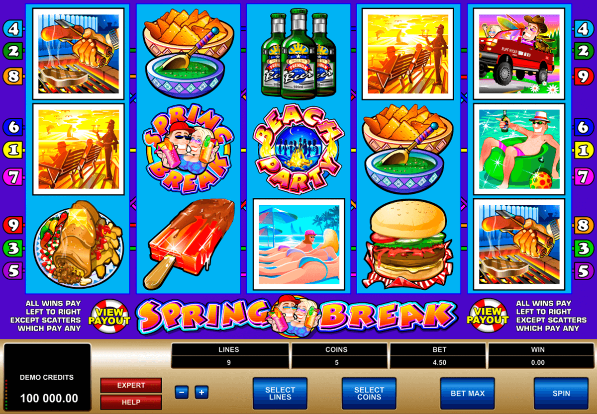 spring break microgaming automat pa nett