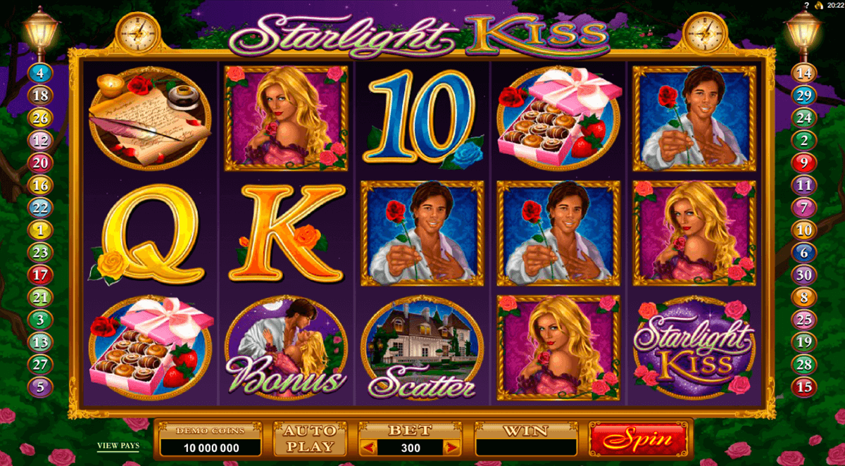 starlight kiss microgaming automat pa nett