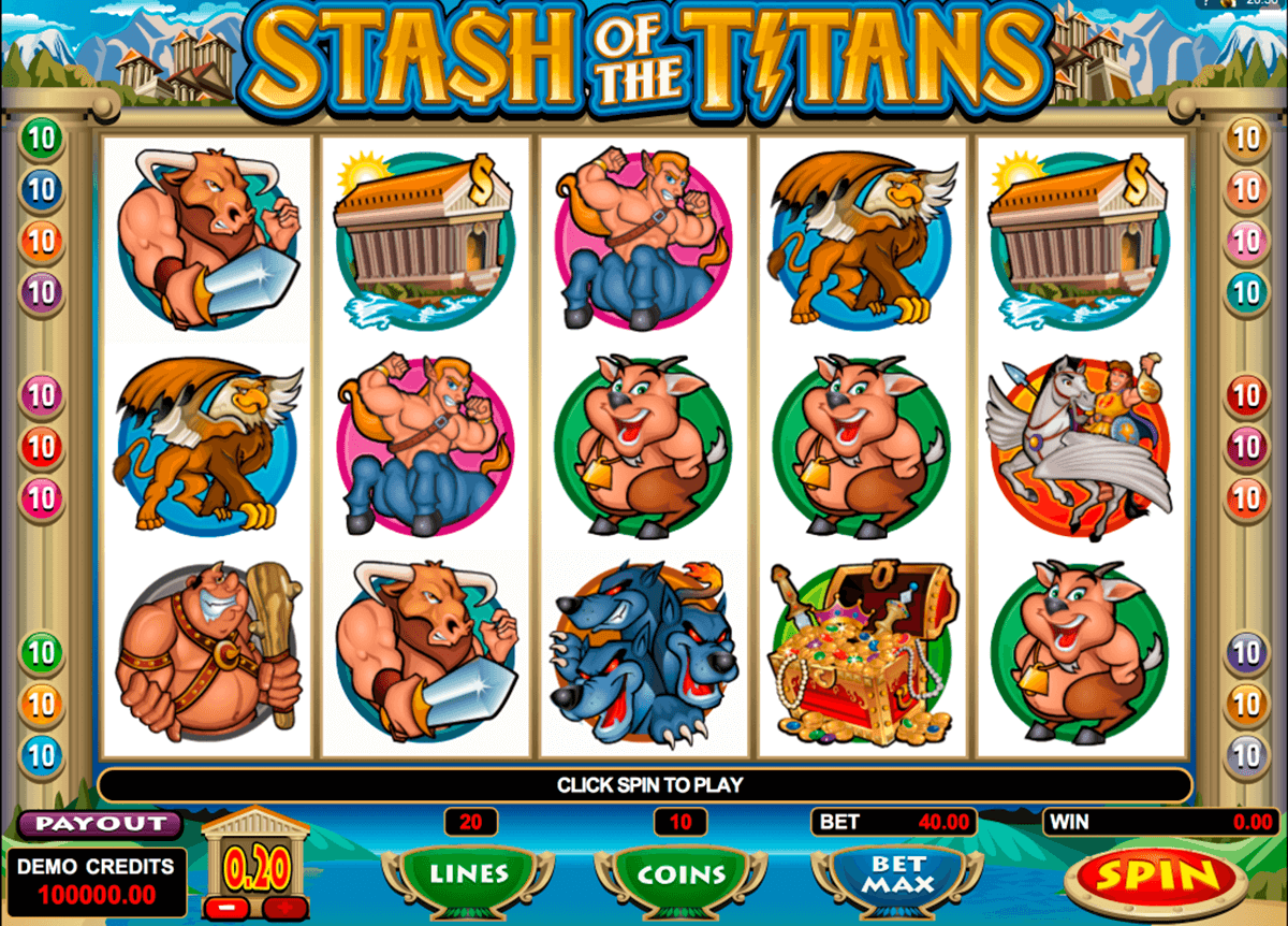 stash of the titans microgaming automat pa nett