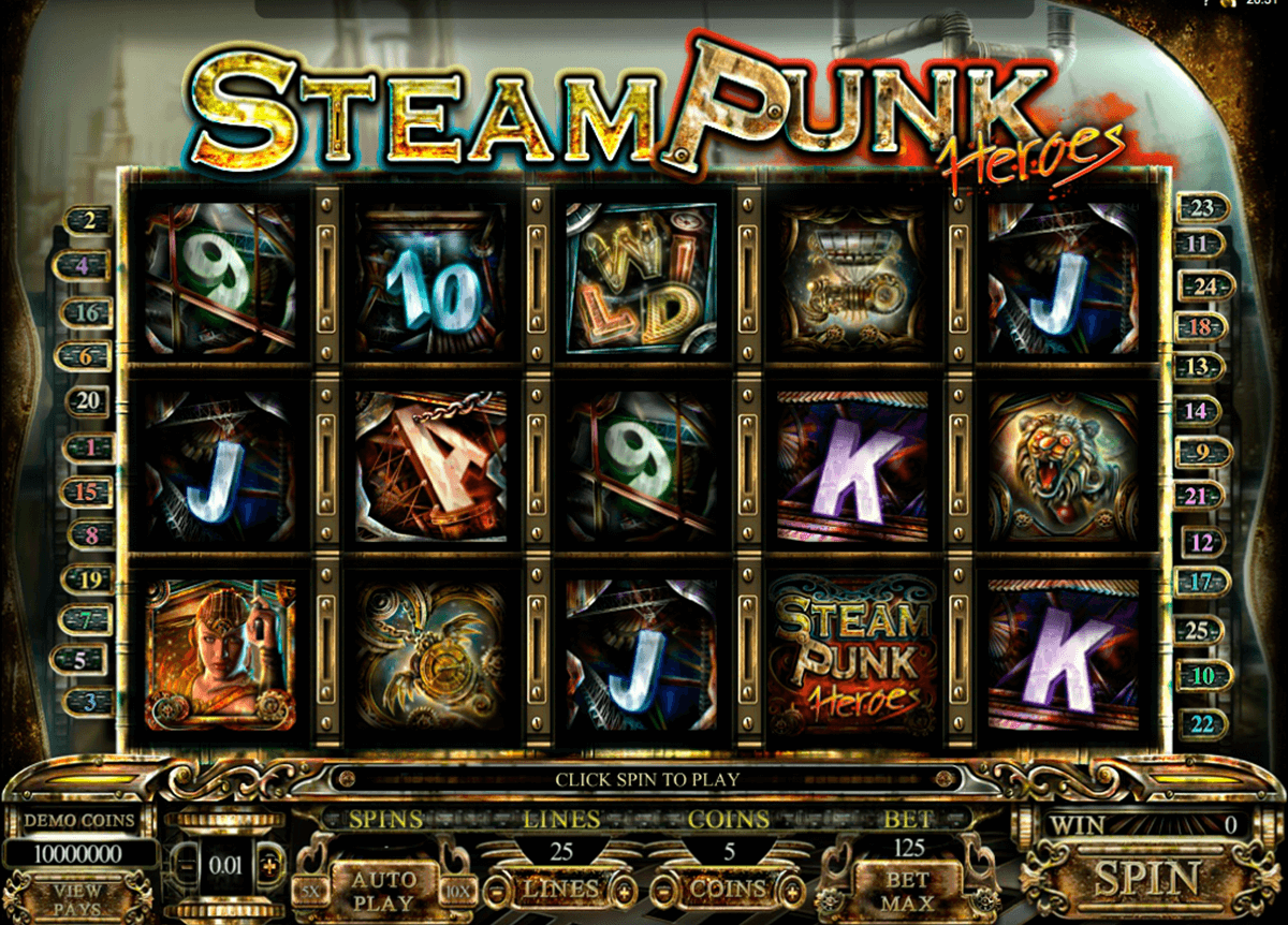 steam punk heroes microgaming automat pa nett