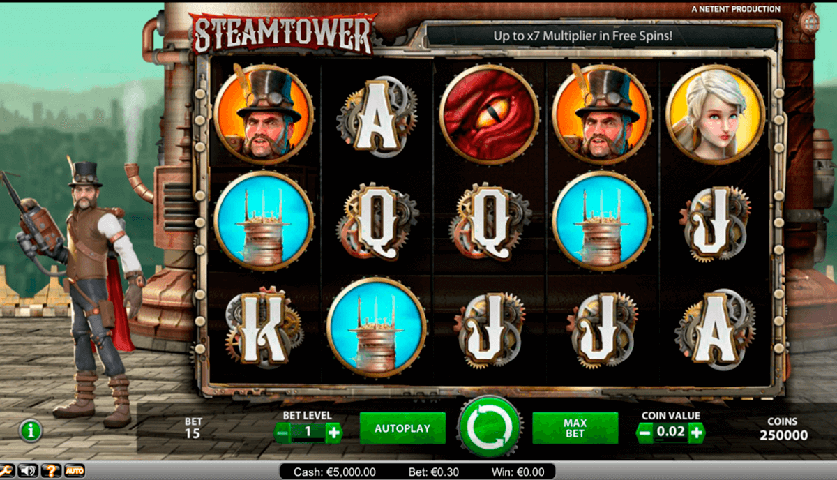 steam tower netent automat pa nett