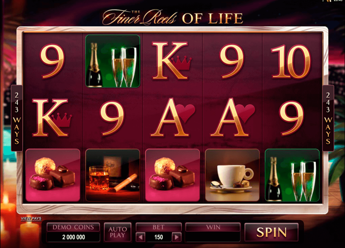 the finer reels of life microgaming automat pa nett