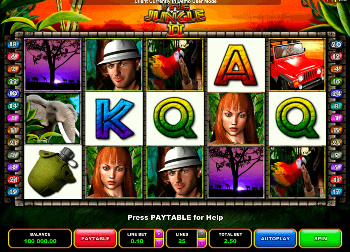 the jungle ii microgaming automat pa nett