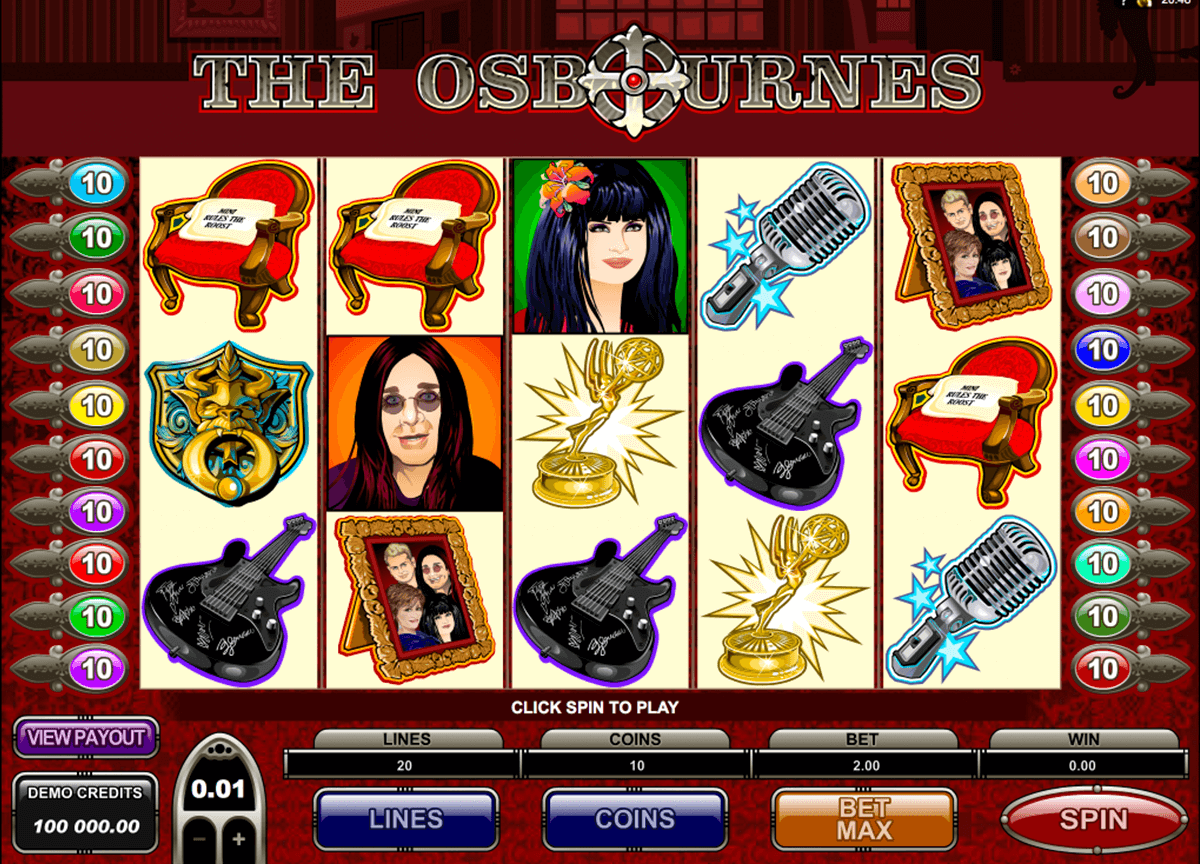 the osbournes microgaming automat pa nett