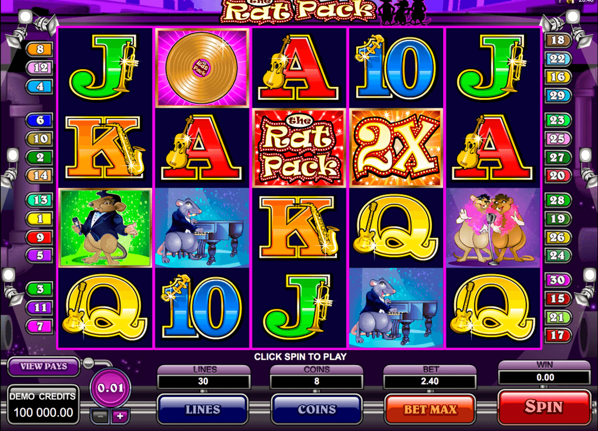 the rat pack microgaming automat pa nett