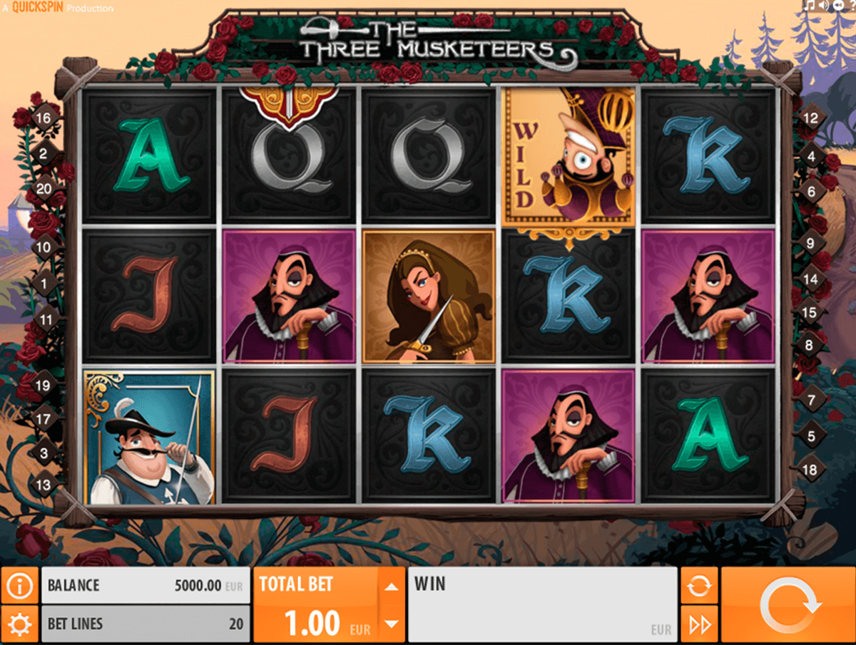 the three musketeers quickspin automat pa nett