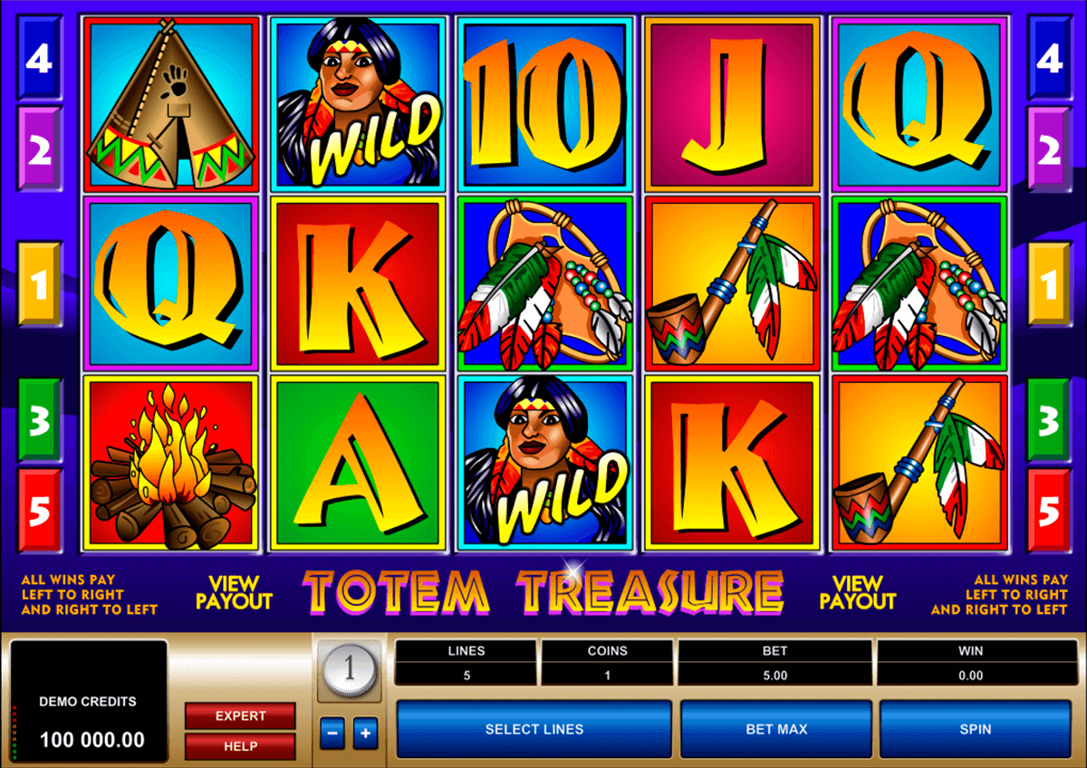 totem treasure microgaming automat pa nett