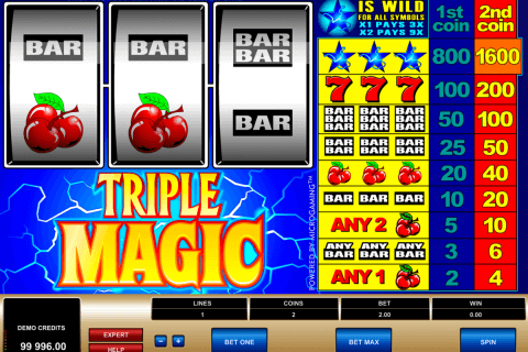 triple magic microgaming automat pa nett