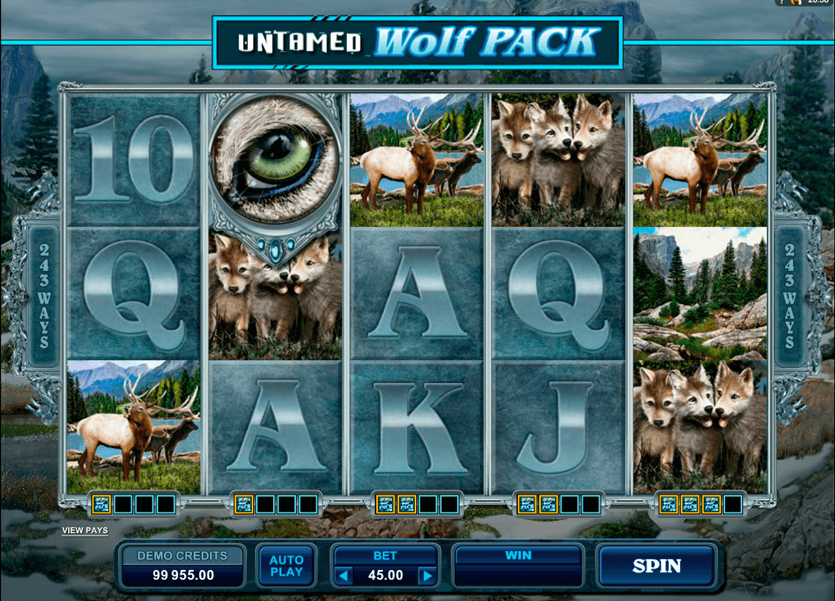 untamed wolf pack microgaming automat pa nett