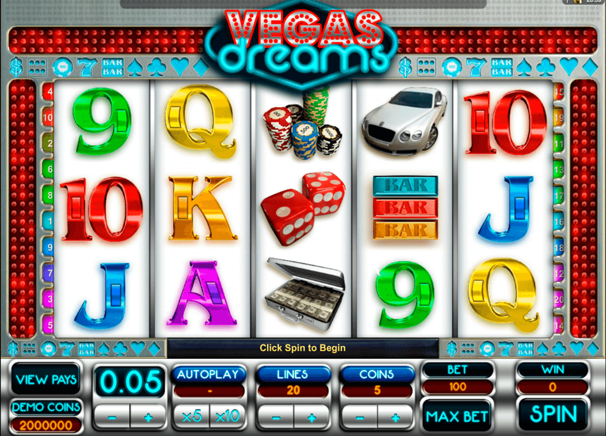 vegas dreams microgaming automat pa nett