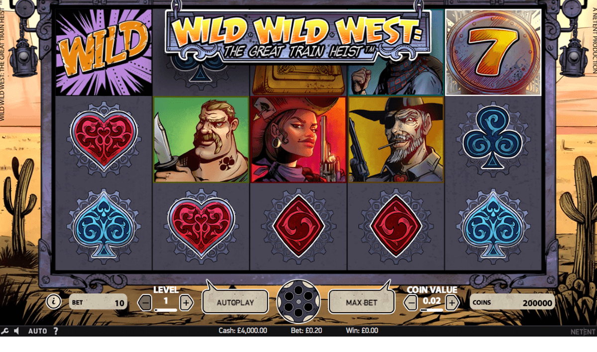 wild wild west the great train heist netent automat pa nett