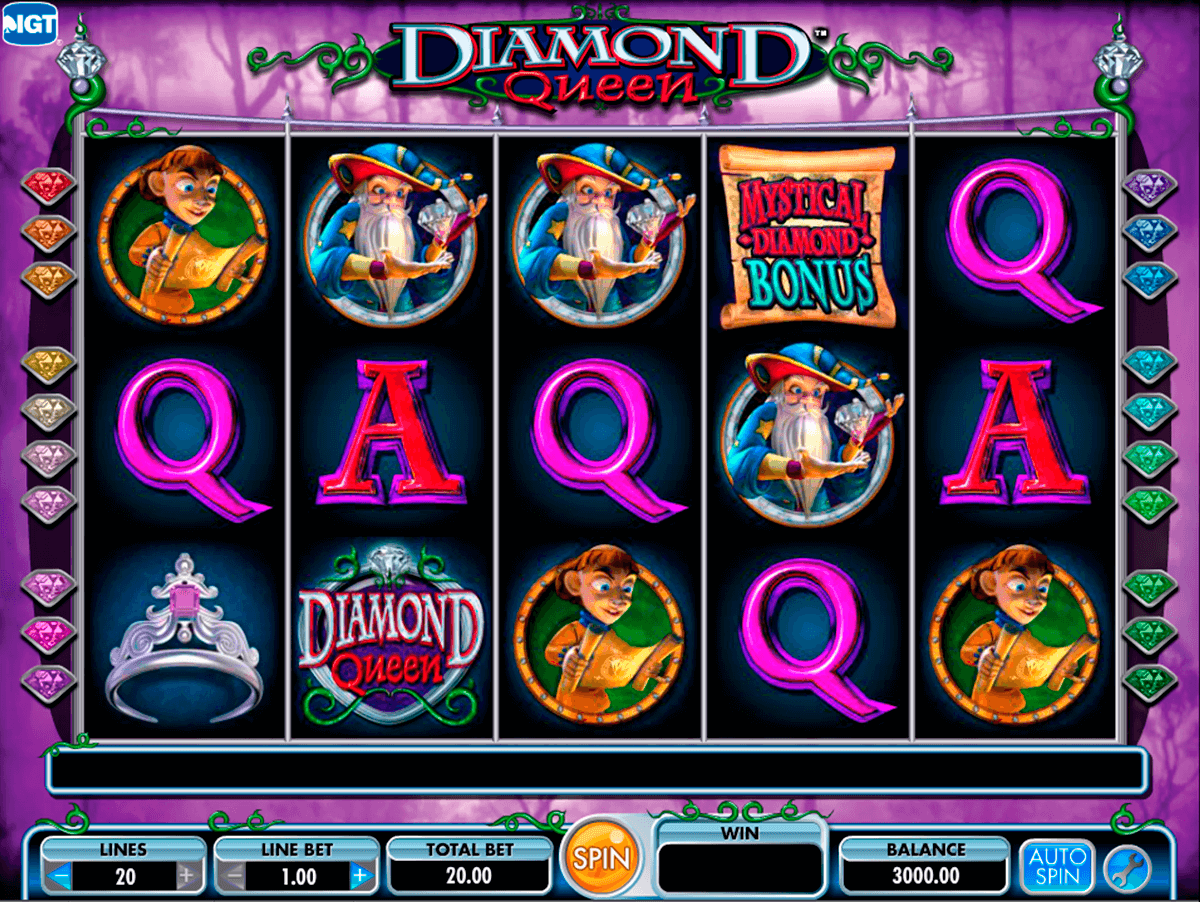 diamond queen igt automat pa nett
