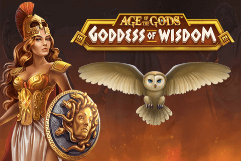 logo age of the gods goddess of wisdom playtech spilleautomat