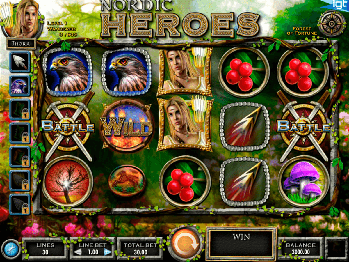 nordic heroes igt automat pa nett