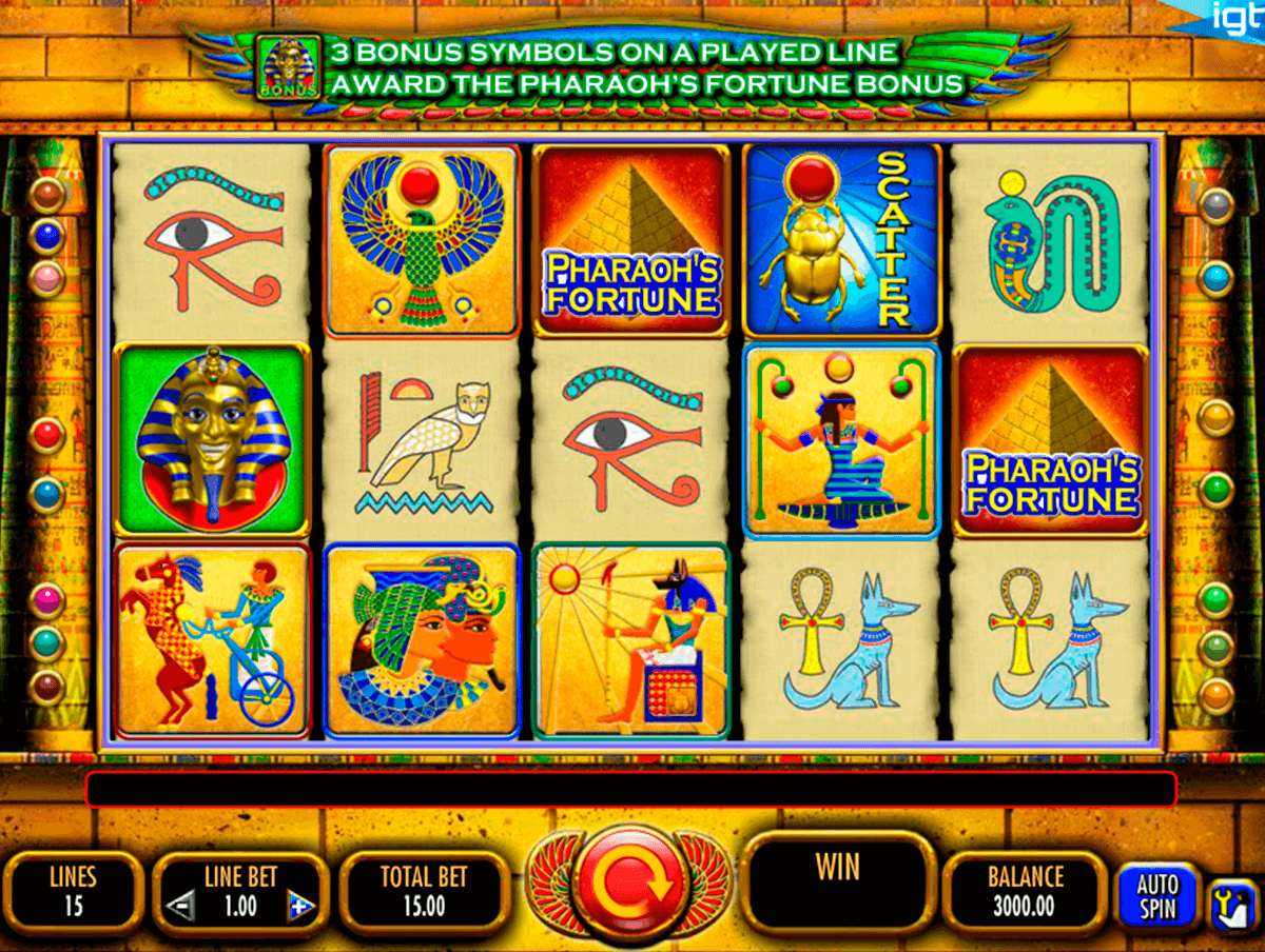 pharaohs fortune igt automat pa nett