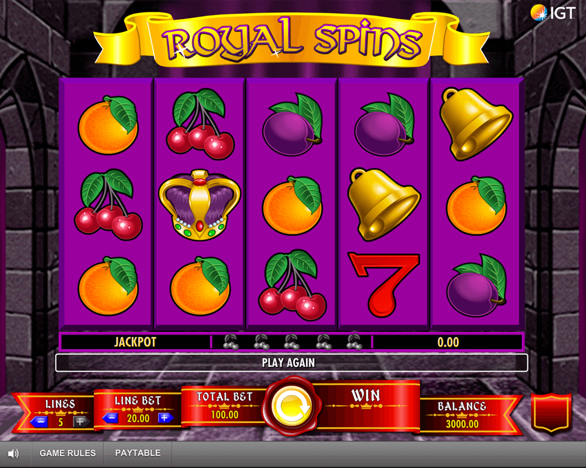 royal spins igt automat pa nett