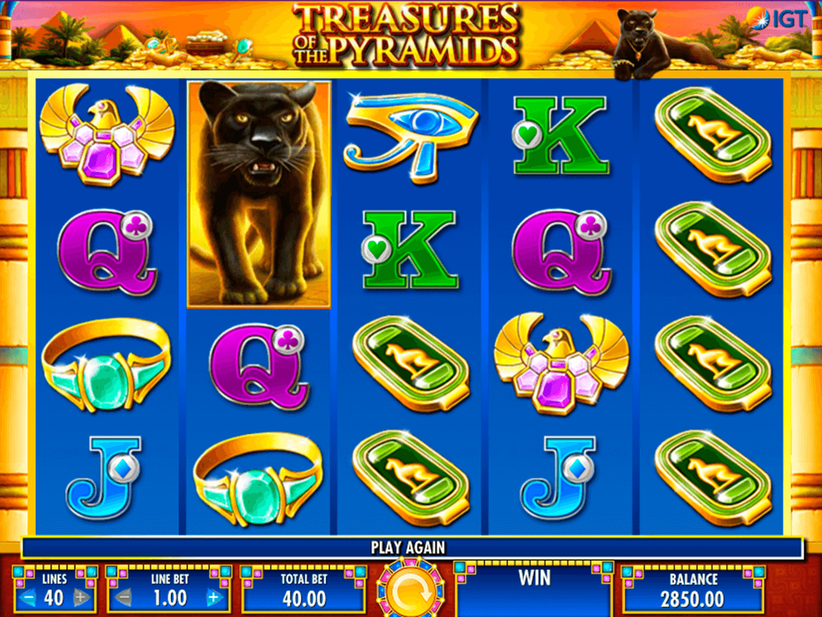 treasures of the pyramids igt automat pa nett