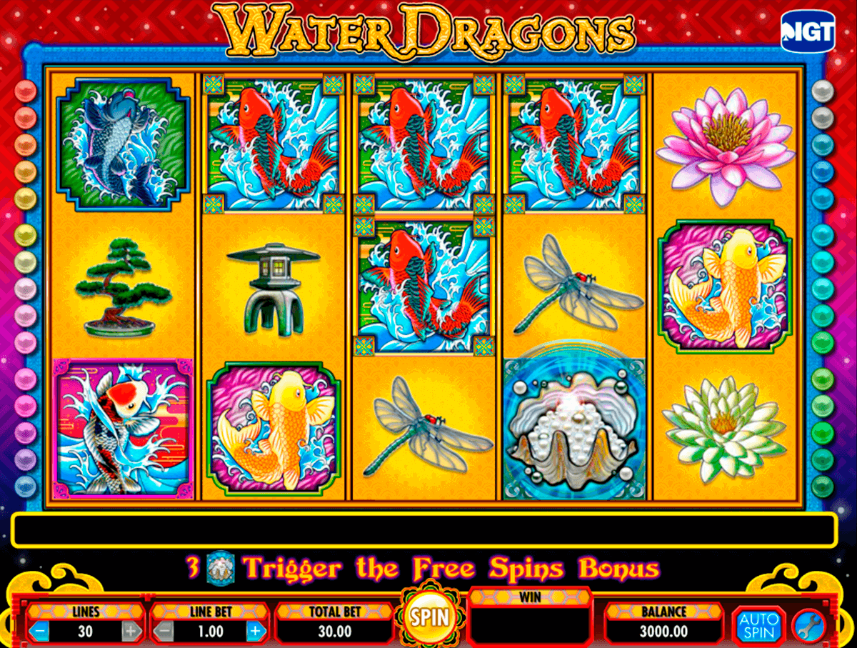 water dragons igt automat pa nett
