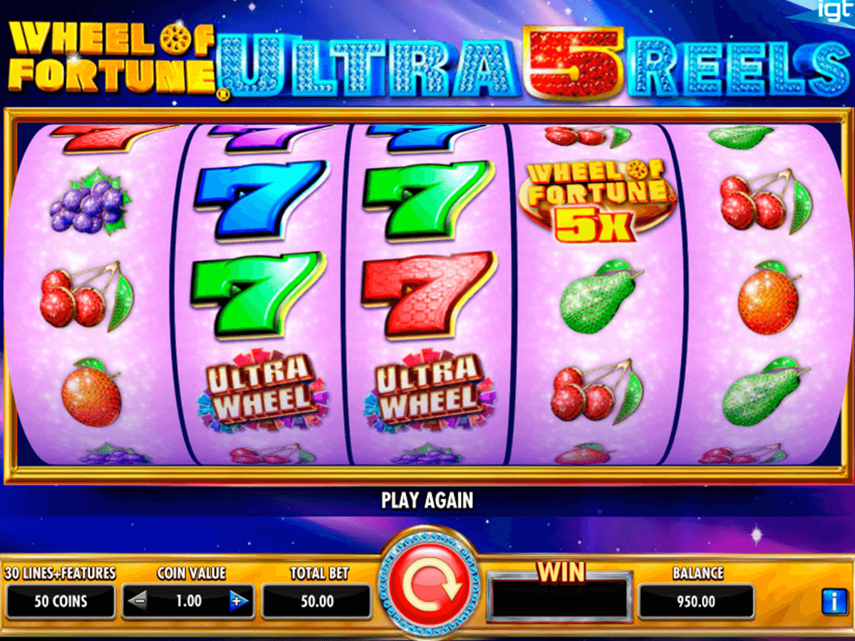 wheel of fortune ultra 5 reels igt automat pa nett